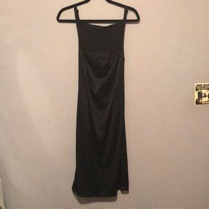 Sexy Little Black Dress Open Back Sheer Top
